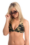 Blonde Sunglasses Royalty Free Stock Photography