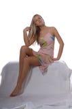 Blonde Supermodel Stock Photography