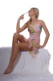 Blonde Supermodel Royalty Free Stock Photo