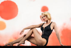 Blonde in swimsuit Royalty Free Stock Photos