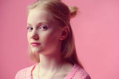 Blonde teen girl Royalty Free Stock Photos