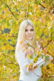 Blonde teen girl royalty free stock photography