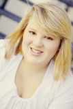 Blonde teen girl pretty young Royalty Free Stock Image