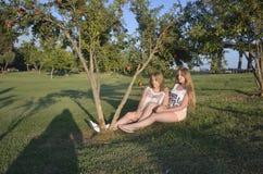 Blonde teen girls Royalty Free Stock Image