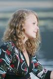 Blonde teen model posing Stock Image