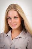 Blonde teenager closeup Stock Image