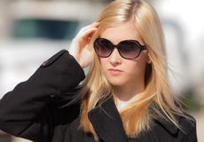 Blonde Teenager in Sunglasses Royalty Free Stock Photography