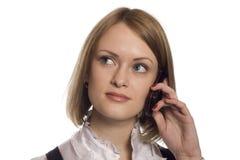 Blonde Telefon-Frau Lizenzfreies Stockbild