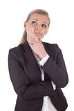 Blonde thinking business woman Stock Photos
