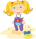 Blonde toddler Stock Images