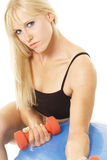 Blonde in training Stock Image