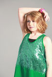 Blonde tween girl Stock Photography