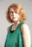 Blonde tween girl Stock Images