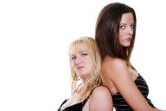 Blonde und Brunettefrau Lizenzfreies Stockfoto