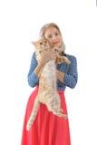Blonde und rote Katze Lizenzfreies Stockfoto