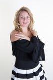 Blonde und sexy junge Frau mit blauen Augen Lizenzfreies Stockbild