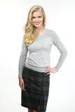Blonde Unternehmensleiterfrau Lizenzfreie Stockfotos