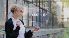 Blonde uses hologram Startup