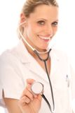Blonde Verpleegster Stock Afbeelding