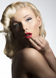 Blonde vintage diva Royalty Free Stock Images