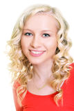 Blonde vorbildliche Frau Stockbild