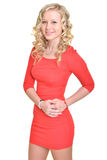 Blonde vorbildliche Frau Stockbilder