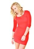 Blonde vorbildliche Frau Lizenzfreie Stockfotografie