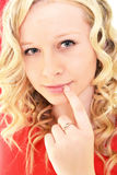 Blonde vorbildliche Frau Lizenzfreie Stockfotos