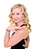 Blonde vorbildliche Frau Lizenzfreie Stockbilder