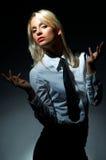 Blonde vorbildliche Haltung Lizenzfreies Stockfoto