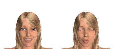 Blonde vrouw vector illustratie