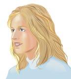 Blonde vrouw royalty-vrije illustratie