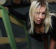 Blonde vrouw stock afbeelding