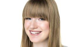 Blonde vrouw met blauwe ogen Royalty-vrije Stock Fotografie
