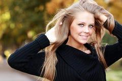 Blonde vrouw van de close-up Stock Afbeeldingen