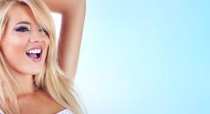 Blonde vrouwen Royalty-vrije Stock Foto's