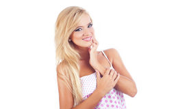 Blonde vrouwen Stock Afbeeldingen
