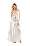 Blonde wearing evening dress Royalty Free Stock Photography
