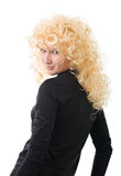 Blonde on a white Royalty Free Stock Image