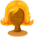 blonde wig on mannequin head Royalty Free Stock Photography