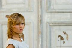 Blonde wijnoogst van de schoonheid Stock Foto's