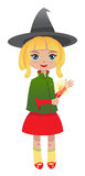 Blonde witch Stock Images