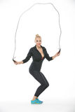 Blonde With Skipping Rope Stock Photography