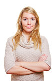 Blonde woman with arms crossed Stock Image