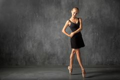 Blonde woman baterina royalty free stock photography