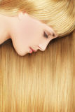 Blonde woman - beautiful hair Stock Image