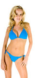 Blonde Woman In Blue Bikini Stock Images