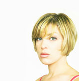 Blonde Woman with Bob Cut Stock Image
