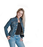 Blonde Woman In Casual Clothing Royalty Free Stock Photo