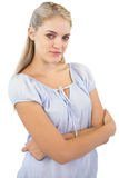 Blonde woman with crossed arms Royalty Free Stock Images